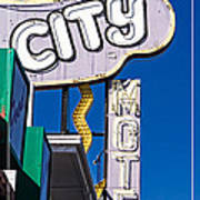 City Motel Las Vegas Art Print