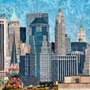 City - Ny - A Touch Of The City Art Print