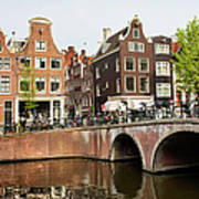 City Of Amsterdam In Holland Art Print