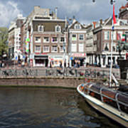 City Of Amsterdam Urban Scenery Art Print