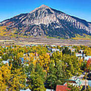 City Of Crested Butte Colorado Panorama   Art Print