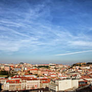 City Of Lisbon At Sunset Art Print