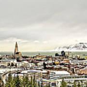 City Of Reykjavik  Art Print