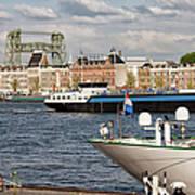 City Of Rotterdam Urban Scenery Art Print