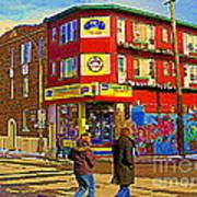 City Paint Benjamin Moore Rue Rachel And Hotel And De Ville Montreals Oldest Paint Store  C Spandau  Art Print