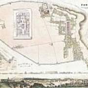 City Plan Or Map Of Pompeii Art Print