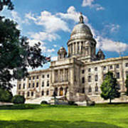 City - Providence Ri - The Capitol  Art Print