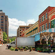 City - Roanoke Va - The City Market Art Print by Mike Savad