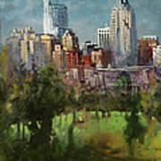 City Set On A Hill Art Print
