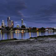 City Skyline At Night Art Print