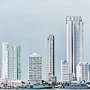 City Skyline, Bocagrande, Cartagena Art Print