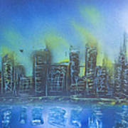 City Spray II Art Print