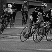 City Street Cycling Art Print