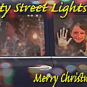 City Street Lights Art Print
