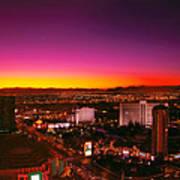 City - Vegas - Ny - Sunrise Over The City Art Print