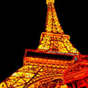 City - Vegas - Paris - Eiffel Tower Restaurant Art Print
