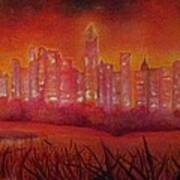 Cityscape Gold Coast Art Print