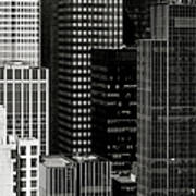 Cityscape In Black And White Art Print