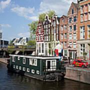 Cityscape Of Amsterdam Art Print