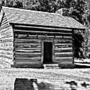 Civil War Cabin Art Print