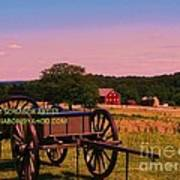 Civil War Caisson At Gettysburg Art Print