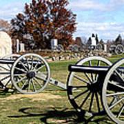 Civil War Cannons At Gettysburg National Battlefield Art Print by Brendan Reals