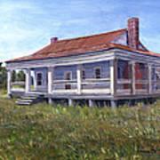 Civil War House Mansfield Louisiana Art Print by Lenora  De Lude