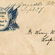 Civil War Letter 25 Art Print