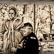 Civil War Officer And Wife Art Print