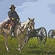 Civil War Officer Art Print