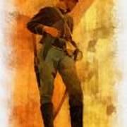 Civil War Soldier Photo Art Art Print