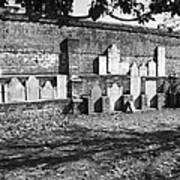 Civil War Wall Of Tombstones Savannah Georgia Art Print