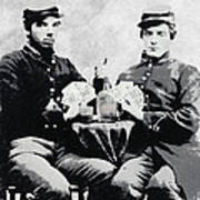 Civil War Whiskey And Cards  C. 1863 Art Print