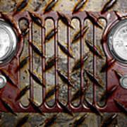 Civilian Jeep- Maroon Art Print by Luke Moore