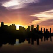 Calgary Sunset Skyline  Art Print