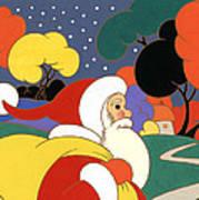 Clarice Cliff Santa Art Print