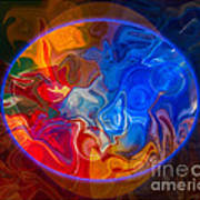 Clarity In The Midst Of Confusion Abstract Healing Art Art Print