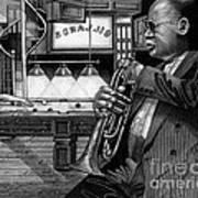 Jazz Clark Terry Art Print