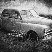 Clasic Car - Pen And Ink Effect Art Print