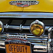 Classic New York City Cab - Detail Art Print