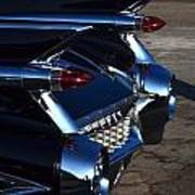 Classic Black Cadillac Art Print
