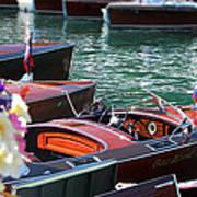 Classic Boats In Lake Tahoe Art Print