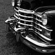 Classic Cadillac Sedan Black And White Art Print