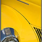 Classic Car Yellow - 09.20.08_471 Art Print