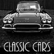 Classic Cars Front Cover Art Print
