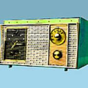 Classic Clock Radio Art Print
