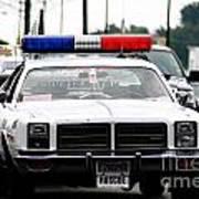 Classic Cop Car Art Print