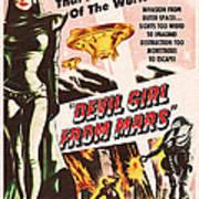 Classic Devil Girl From Mars Poster Art Print