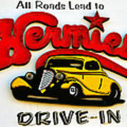 Classic Drive In Sign Art Print
