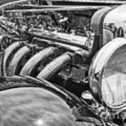 Classic Engine - Classic Cars At The Concours D Elegance. Art Print